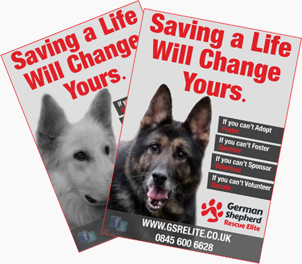 German Shepherd Rescue Poster Campaign